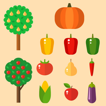 Vegetables food cellulose vector set peppers tomatoes porridge isolated healthy food concept