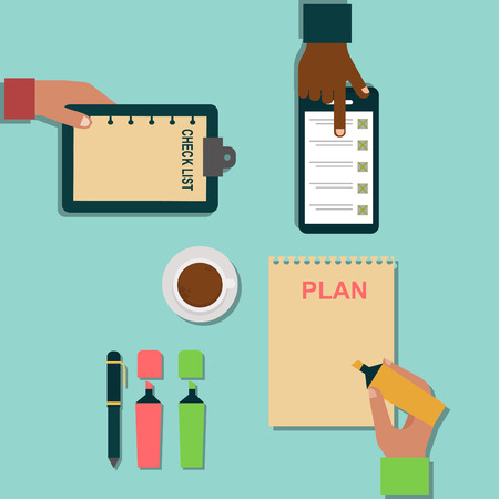 Vector notebook agenda business note plan work reminder planner organizer illustration. Stock Vector - 80832719