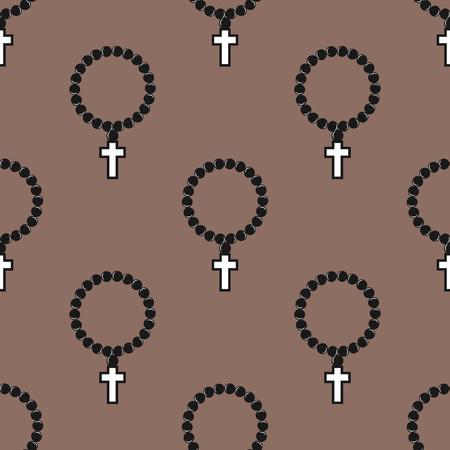 ベクターのシームレス パターン抽象的な背景モノクロ宗教キリスト教印刷クロス