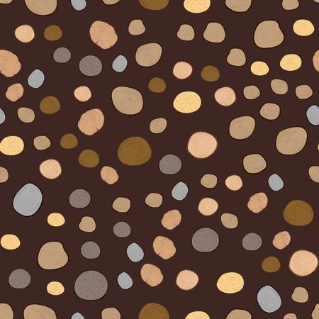 木材スライス テクスチャ ツリー サークル カット素材のシームレスなパターン詳細植物年史はテクスチャ荒い森林ベクトル図です。