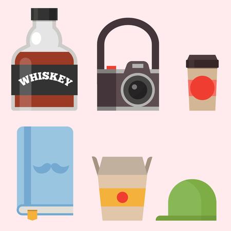 Style vintage icônes hipster symboles vecteur des signes et des symboles de modèles de l & # 39 ; autre et des symboles de l & # 39 ; autre illustration . Banque d'images - 83015902