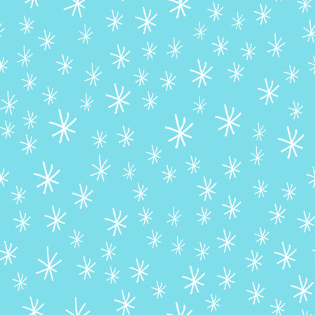 Snowflake vector seamless pattern weather traditional winter december wrapping paper christmas background. Ilustração