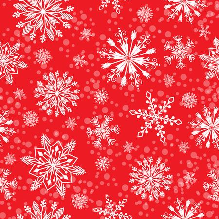 シームレスなスノーフレーク ベクトル パターン天気伝統的な冬 12 月クリスマス [背景に用紙を折り返しします。  イラスト・ベクター素材