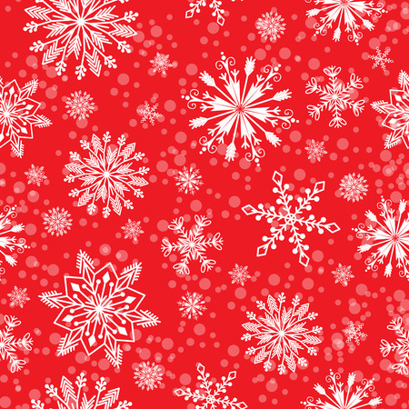 Snowflake vector seamless pattern weather traditional winter december wrapping paper christmas background. Illustration