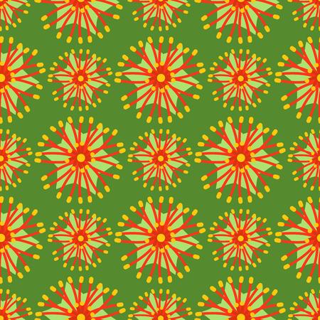 Beautiful tropical flower seamless pattern design summer plants colorful decoration nature design floral drawing leaf blossom vector illustration.
