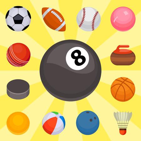 De reeks ballen isoleerde toernooien wint om van het de hobbyspel van de mandvoetbal het gebied van het het materiaalgebied vectorillustratie