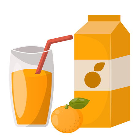 Ripe orange juice drink
