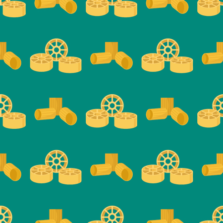 Pasta whole wheat seamless pattern