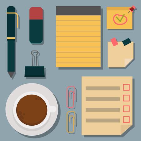Vector notebook agenda business note plan work reminder planner organizer illustration. Stok Fotoğraf