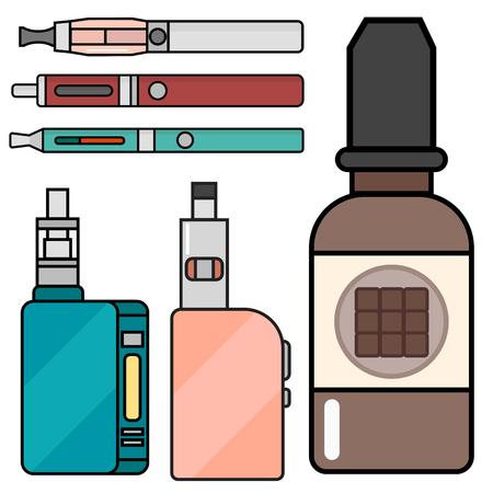 アーク デバイス ベクトルは、シガレット気化蒸気ジュース ボトル味図バッテリー コイルを設定します。