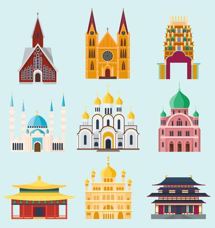 大聖堂や教会寺院ランドマーク観光ベクターの構築