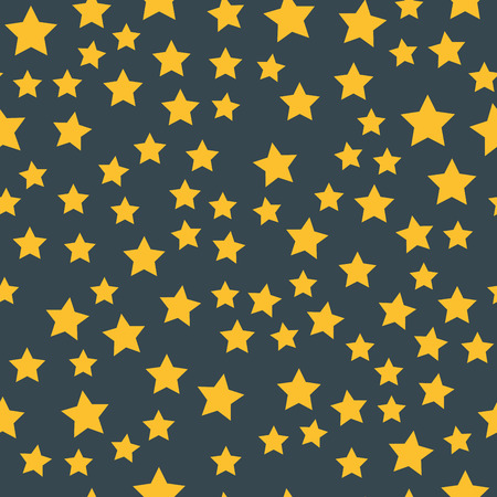 Shiny star seamless pattern pointed pentagonal gold award background abstract design doodle night artistic symbols.