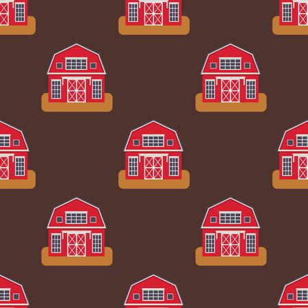 Historische naadloze het patroon distinctieve huis van de stads moderne wereld die voorgezichtvoorgevel bouwen die voor de architectuur vectorillustratie van het toeristenbeeldverhaal wordt geplaatst. Cottage residentiële bouw stadsgezicht.