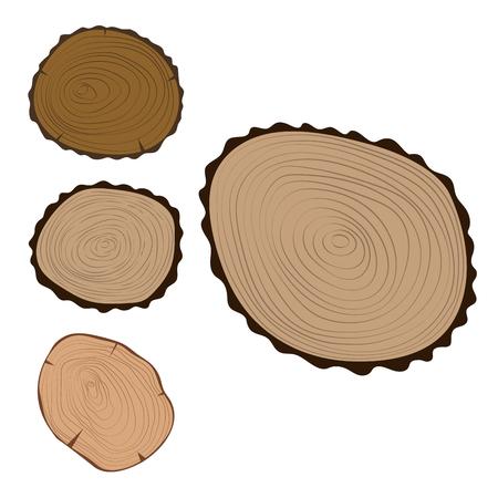 나무, 조각, 텍스처, 나무, 동그라미, 잘라 내기, 공장, 년, 역사, 거칠게,