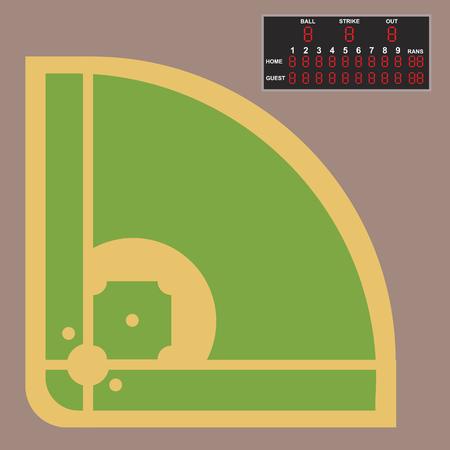 Cartoon baseball field batting vector design american game athlete sport league equipment Stock Vector - 86812950