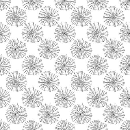 Spinneweb silhouet spinachtige vrees grafische vlakke enge dierlijke naadloze patroon achtergrond vector Stock Illustratie