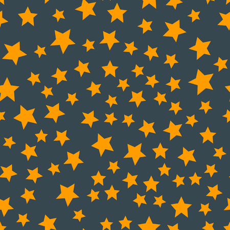 Shiny stars style seamless pattern pentagonal gold award abstract design doodle night artistic background vector illustration. Illusztráció