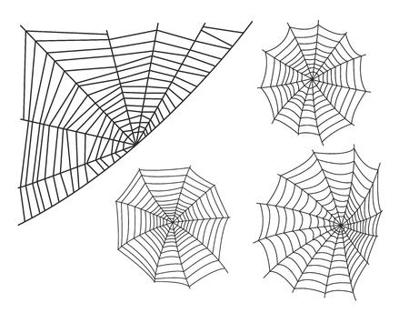 Spinnewebsilhouet spinachtige vrees grafisch vlak eng dier giftig ontwerp natuur fobie insect gevaar horror tarantula Halloween vector pictogram.