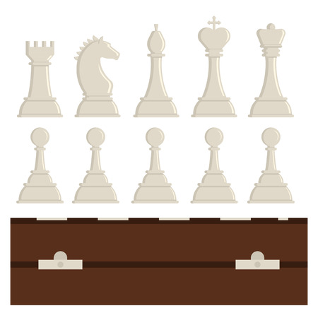 Chess board and chessmen vector strategy play leisure battle choice tournament tools