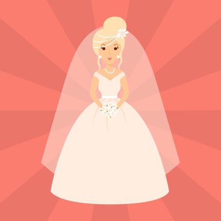 결혼 축하 결혼 패션 벡터 소녀 여성 의상 소녀 일러스트 레이션 스톡 콘텐츠 - 86921465