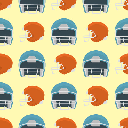Cartoon baseball helmet seamless pattern background