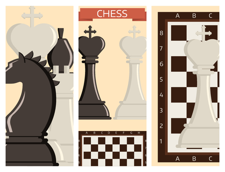 Chess board and chessmen vector strategy cards play leisure battle choice tournament tools