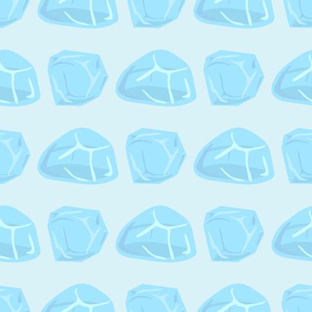 IJskappen sneeuwlaag ijspegels naadloze patroon arctische sneeuw koud water winter decor vectorillustratie.