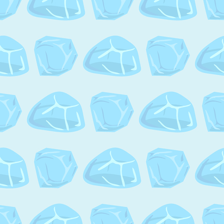Ice caps snowdrifts icicles seamless pattern arctic snowy cold water winter decor vector illustration.