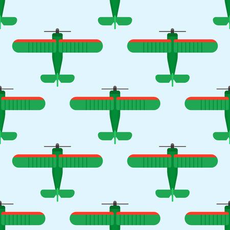 ベクトル飛行機図平面図シームレス パターン航空機交通旅行方法デザインの旅の背景。