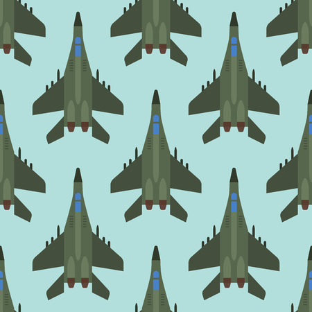 Vector airplane illustration top view seamless pattern aircraft transportation travel way design journey background.