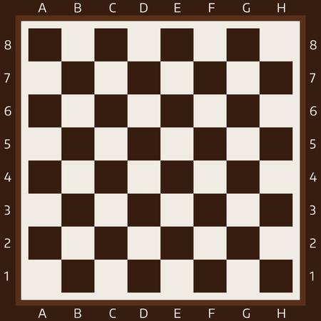 Schaakbord en schaakstukken vectorstrategie spelen vrijetijdsbesteding strijd keuze toernooiachtergrond
