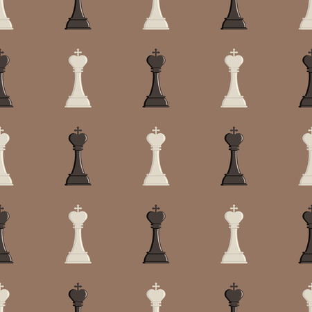 Chess board and chessmen vector seamless pattern strategy play leisure battle choice tournament background