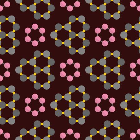 Verbinding structuur molecuul van DNA-neuronen achtergrond naadloze patroon wetenschap technologie vectorillustratie Stock Illustratie