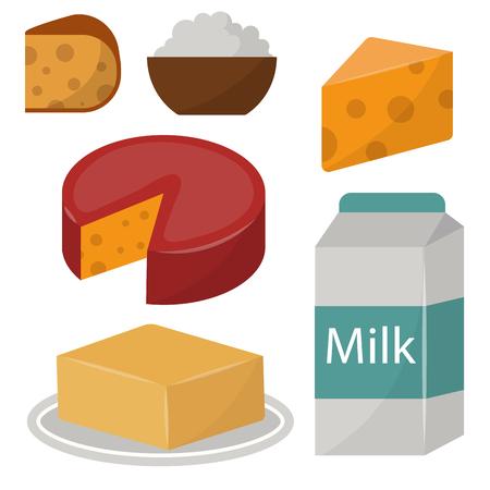 Zuivel zuivelproducten biologisch voedsel gezonde crème vector verse kaas glas voeding boerderij calcium ontbijt kruidenier.