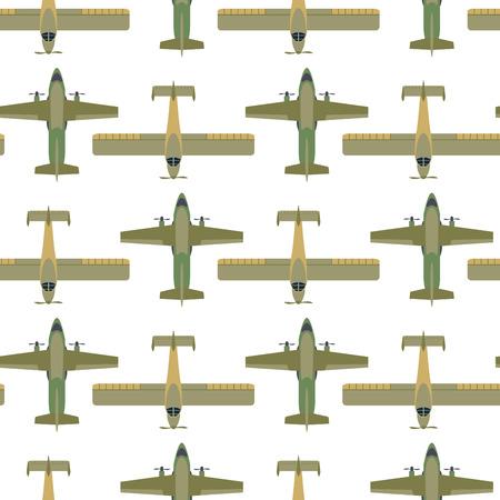 ベクトル飛行機図平面図と航空機輸送方法デザイン旅シームレスなパターンを旅行します。