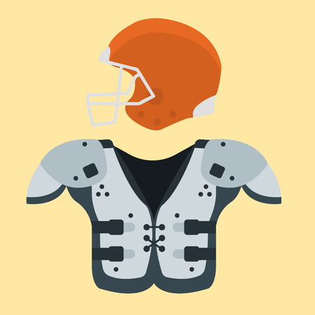 American football player uniform sport game icons vector cartoon style quarterback jumping success usa athlete