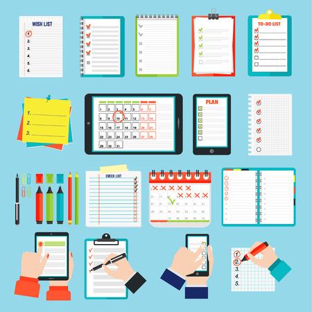Agenda business notes vector