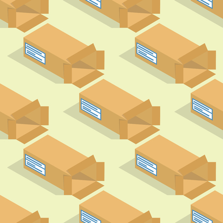 Different box vector isometric icons isolated pack move service or gift container packaging illustration Illustration