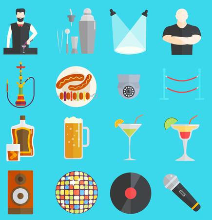 Nachtclub vectorillustratie. Stock Illustratie