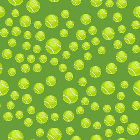 Un pattern avec des boules de tennis vecteur vert ensemble de balle de forme de forme verte. fond de l & # 39 ; environnement Banque d'images - 87380223
