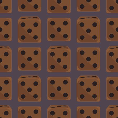 等尺性ダイス数フォーチュン ゲームのカジノのシームレスなパターンの変形損失ギャンブル キューブ ベクトル図ラッキー。