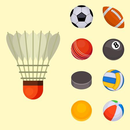 hockey goal: A set of balls isolated tournament on a flesh background. Illustration