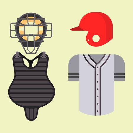A Cartoon baseball uniform player batting vector design.