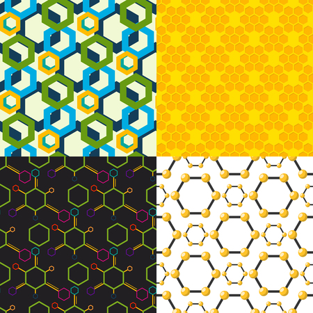 A Vector linear hexagon seamless pattern design.