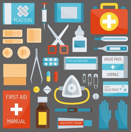 A First aid symbols vector illustration.