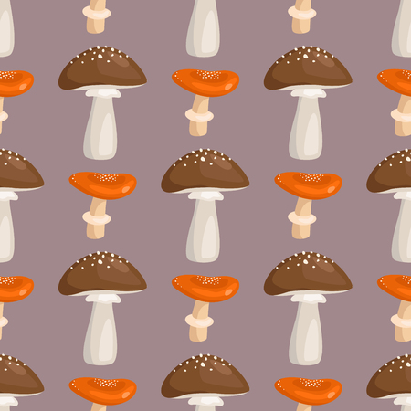 A fungus seamless pattern art style design vector illustration.