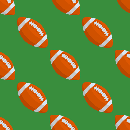 A Seamless pattern with rugby ball vector illustration. Illustration