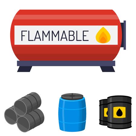 Een olie-drums container brandstof vector illustratie.