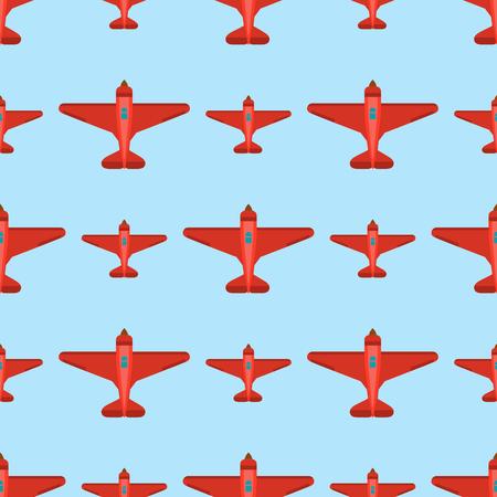 Een Vector het patroonontwerp van het vliegtuigen naadloos patroon op een groene achtergrond. Stock Illustratie