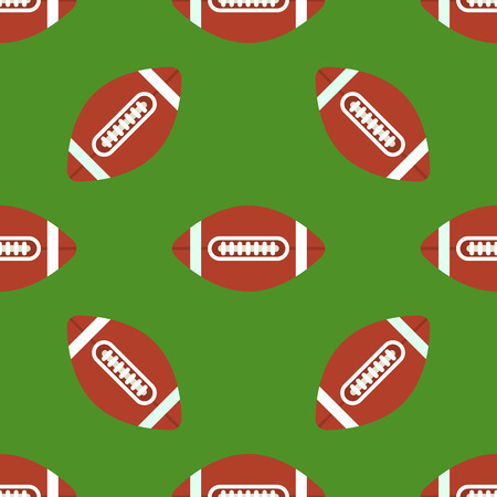 Seamless pattern with soccer balls vector american football symbol sport game tile shape sport backdrop
